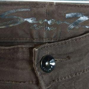 SEVEN7 | Brown Denim Skinny Jeans Size 8